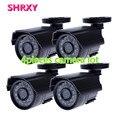 HD 4 piezas de Cámara CCTV 700TVL IR Cut Filter 24 Horas Día/de La Visión Nocturna de Vídeo Impermeable Al Aire Libre IR Mini Cámara de vigilancia de lot