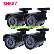 HD 4pieces CCTV Camera 700TVL IR Cut Filter 24 Hour Day/Night Vision Video Outdoor Waterproof IR Mini Surveillance Camera lot