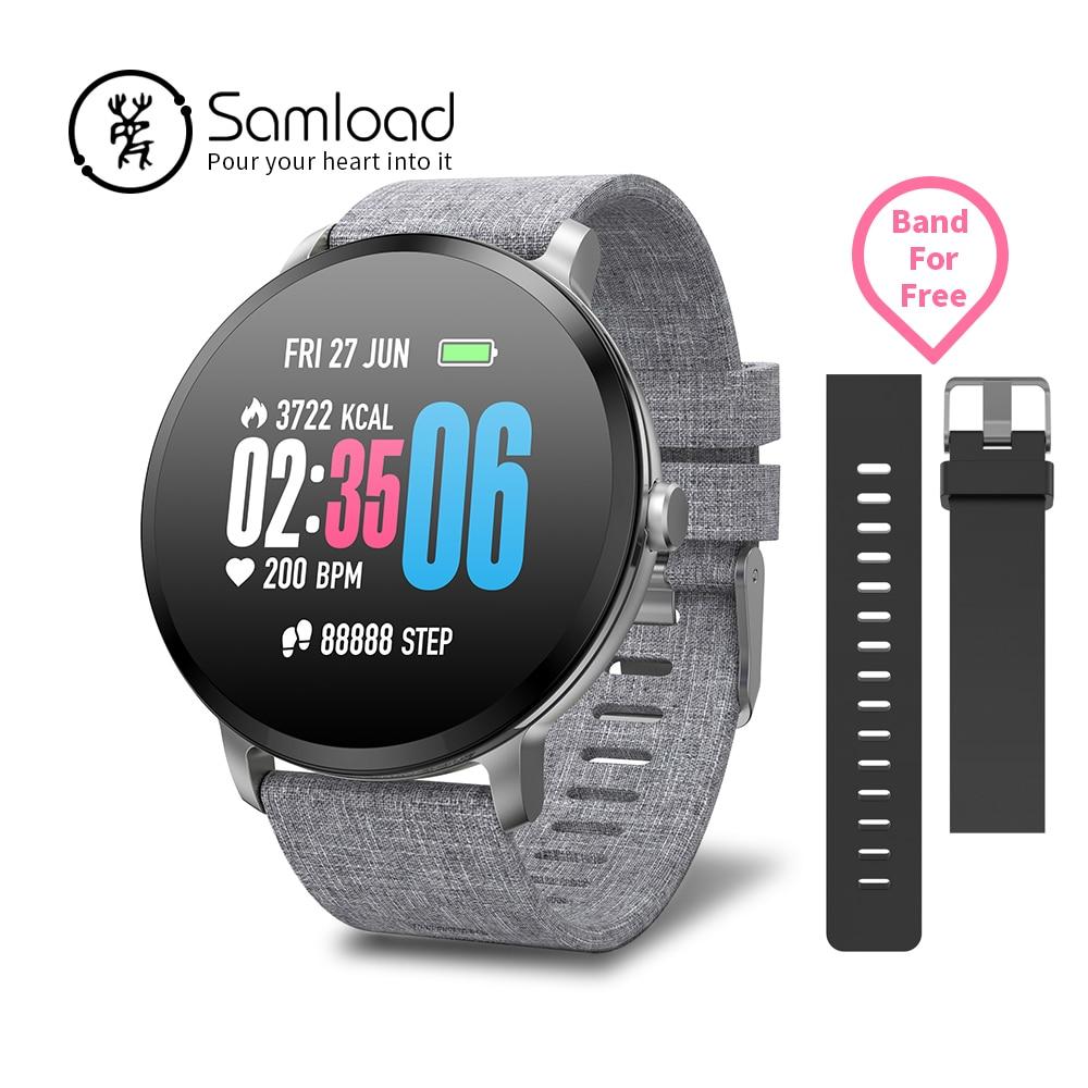 Samload braccialetto Intelligente Touch Screen a Colori Wirstband Impermeabile Misuratore di pressione Sanguigna di Ossigeno Activity Tracker Per Apple iPhone7 8 Xioami