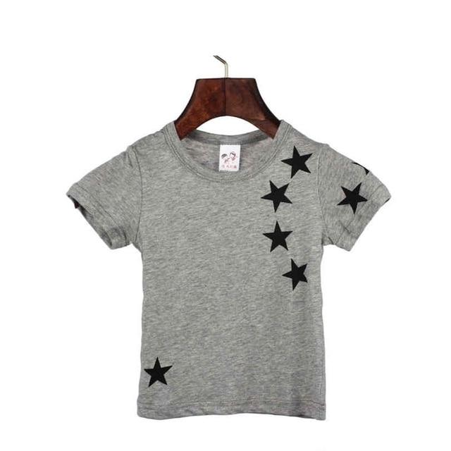 2018 ילדי קיץ ARLONEET כוכב כותנה לילדים ילד לא חולצה לבנים שרוול קצר חולצות T צוואר O OCT10