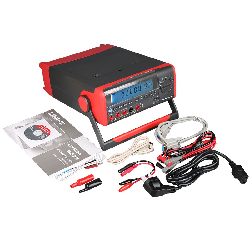 UNI T UT804 Desktop Benchtop Digital Multimeters Volt Amp Ohm Capacitance Hz 39999 Counts Tester High Accuracy LCD Display in Multimeters from Tools