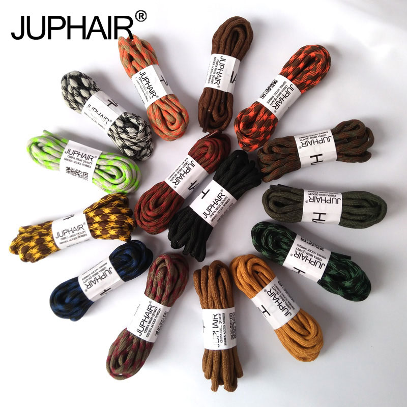JUP 3 Pairs Sneaker Shoelaces Skate Boot Laces Outdoor Sports Casual Multicolor Bumps Round Shoelace Hiking Slip Rope Shoe Laces