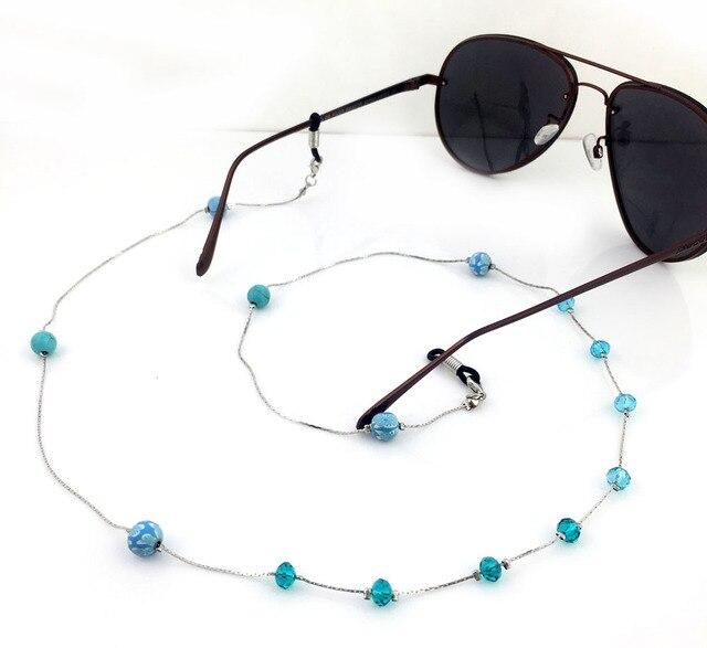 GL223 10PCS/Lot!Free Shipping Handamde Beaded Crystal Metal Acrylic Chain Ball Fashion Eyeglasses Jewelry
