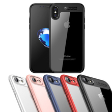 купить Slim Case for iPhone 7 6 6s plus Transparent PC & TPU Silicone for iPhone Cover Coque for iPhone8 Case for iphone X cover case дешево
