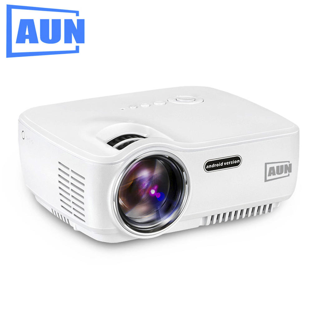 AUN Projector AM01 AM01S Optional Android 4 4 WIFI Bluetooth 1400 Lumens LED Projector for Home