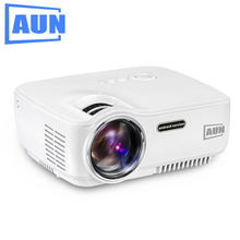AUN Proyector AM01S, Bluetooth incorporado 4.0, WIFI, Android 4.4,1400 Lúmenes LED Projector, Gratis de Cable de datos HDMI, Gafas 3D