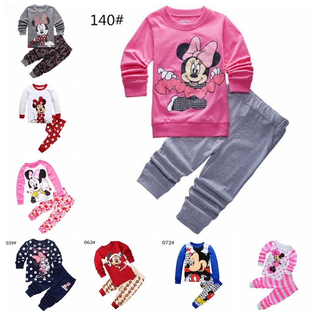 216b9da9c97e 2019 Cartoon Kids Pajamas Set Boys Girls Long Sleeve Spring Autumn ...