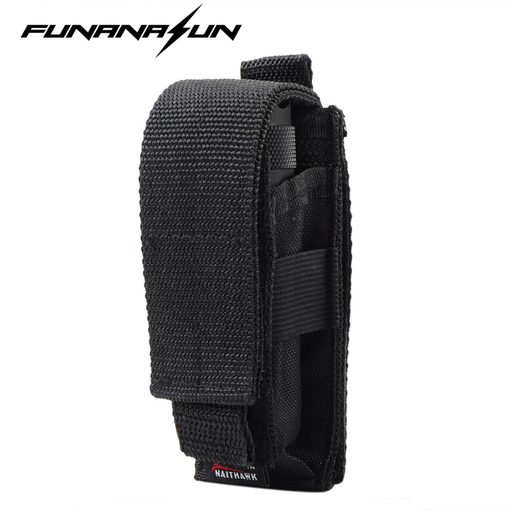 Adjustable Flashlight Holster Pouch with Belt Tactical Hunting Multifunctional Led Torch Knife Holster Case BK цена