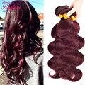 Burgundy Brazilian Hair Weave Bundles Red Wine Brazilian Virgin Hair Body Wave 3 Bundles Realove Hair 10-28 brazilian body wave
