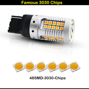 Image 2 - IJDM Canbus لا فرط فلاش العنبر الأصفر 7440 W21W WY21W T20 LED استبدال مصابيح سيارات السيارات الأمامي أو الخلفي بدوره أضواء الإشارة