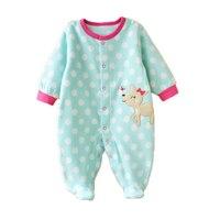 Newborn Fleece Baby Rompers Long Sleeve Baby Boys Girls Clothing Spring Winter Newborn Jumpsuits Roupas Bebes