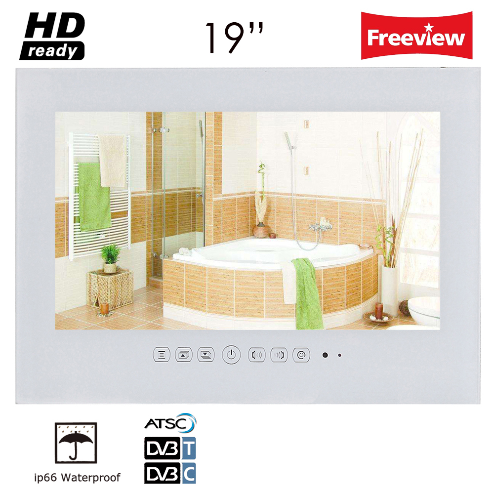 Souria 19 inch IP66 Waterproof Bathroom LED TV Waterproof Wall ...