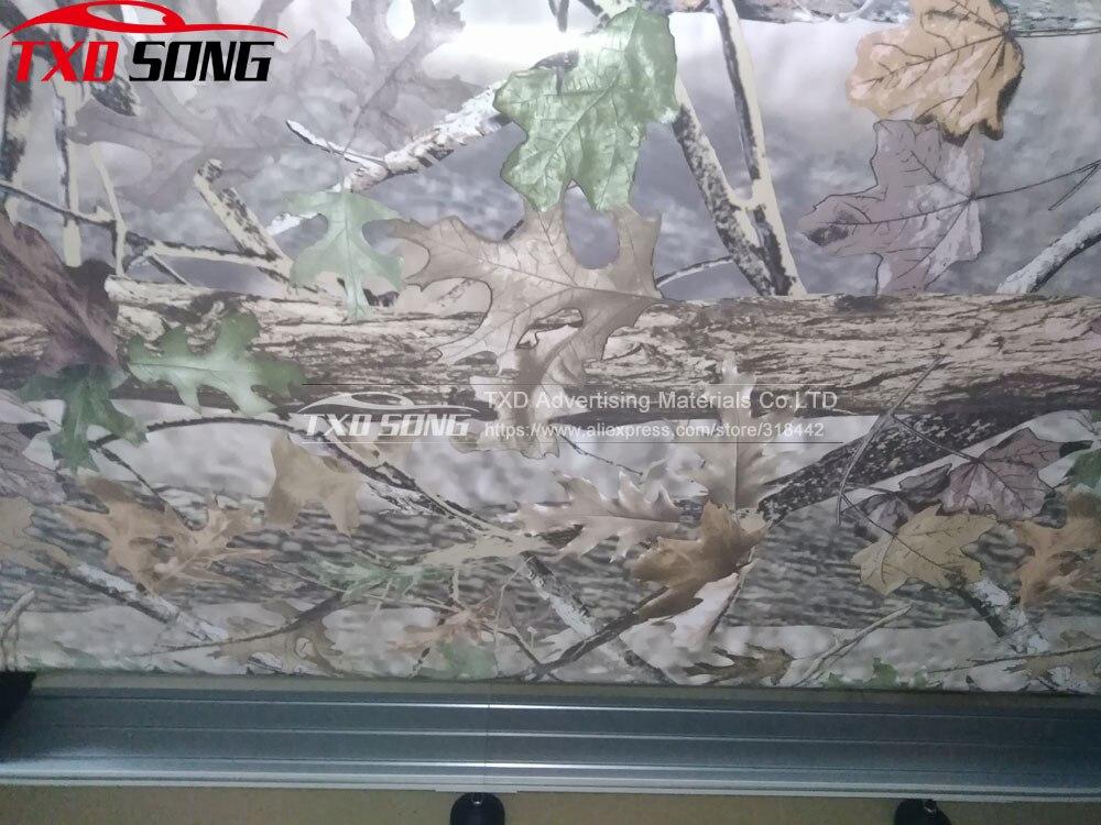 Bonne Impression Vrai Arbre de Camouflage Vinyle De Voiture Wrap Vrai Arbre Feuille Imprimé Camo Film Pour Camion De Voiture Décalque 3 m/5 m/15 m/20 m/30 m/Roll