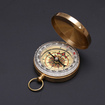 Portable Mini Brass Pocket Watch Outdoor Camping Hiking Compass Navigation Keychain mini kompas sleutelhanger