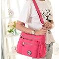 11 cores 2017 novas mulheres da moda Coreano bolsa de ombro saco de nylon Impermeável Ombro Multicamada sacos Do Mensageiro do saco das mulheres