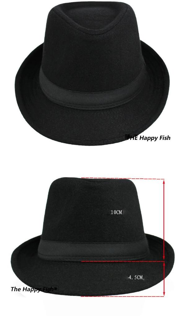Original Unisex Structured Wool Fedora Hat Fedora hats for men fedora felt hat (5)