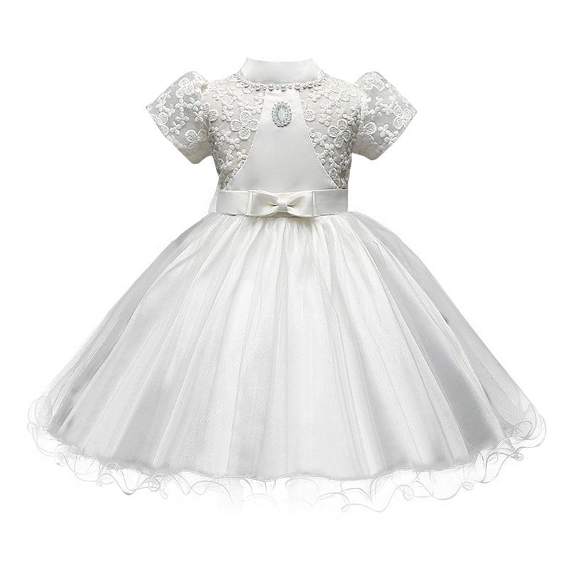 Toddler Baby Little Girls Dresses Summer 2017 Children Clothes Girls Beautiful Lace Dress White Baby Girls Kids Dress