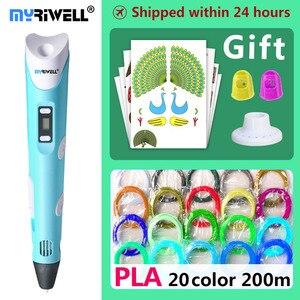 Image 1 - Myriwell 3d القلم 3d الأقلام ، الاطفال عيد الميلاد الحاضر عيد present1.75mm ABS/PLA خيوط ، 3d نموذج ، 3d طابعة pen 3d قلم سحري ،