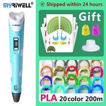 Myriwell 3d bút 3d bút, Trẻ Em Giáng Sinh sinh nhật present1.75mm ABS/PLA Filament, 3d mô hình, 3d máy in pen 3d ma thuật bút,