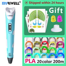 hot deal buy myriwell 3d pen 3d pens,kids christmas present birthday present1.75mm abs/pla filament, 3d model,3d printer pen-3d magic pen,