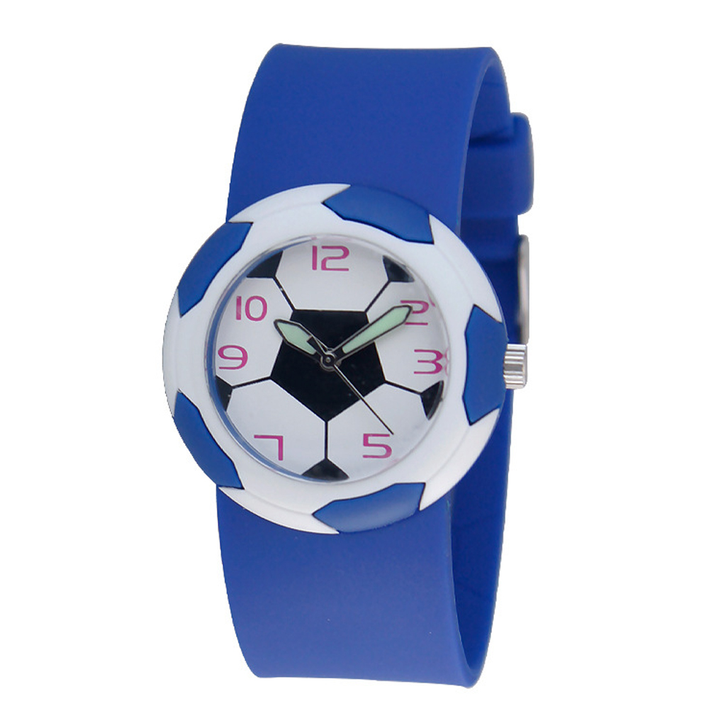 Children's Watches New Fashion Boy Cute 3d Football Cartoon Watch Children Korean Style Luminous Analog Wrist Watch Kids Student Sport Wrist Clock Pure Whiteness