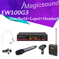 Top Quality! EW122G3 EW100G3 EW135G3 True Diversity Handheld + Bodypack + Lapel + Headset Mic UHF Wireless Microphone System