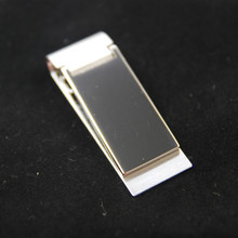 High Quality Stainless Steel /Silver Novel New Slim Pocket Cash ID Credit Card Cash Dollar Holder Small Mini Magic Money Clip !