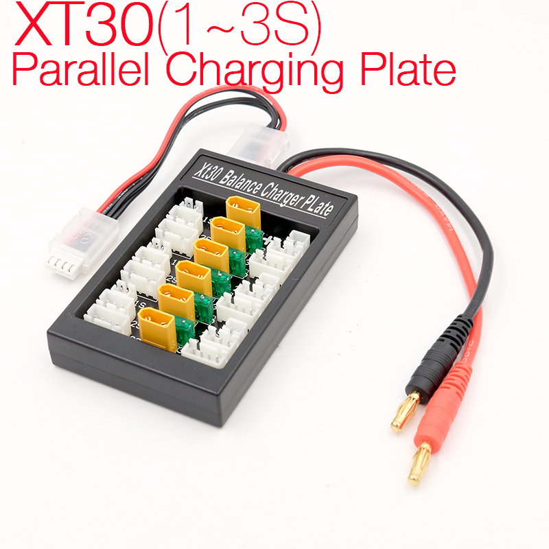1~3S Lipo Expansion board XT30 plug parallel charging plate battery charger board B6AC Lipo balance conversion panel parts multi 2s 6s lipo parallel balanced charging board xt60 plug for rc battery charger b6ac a6 720i lithium batteries charger part