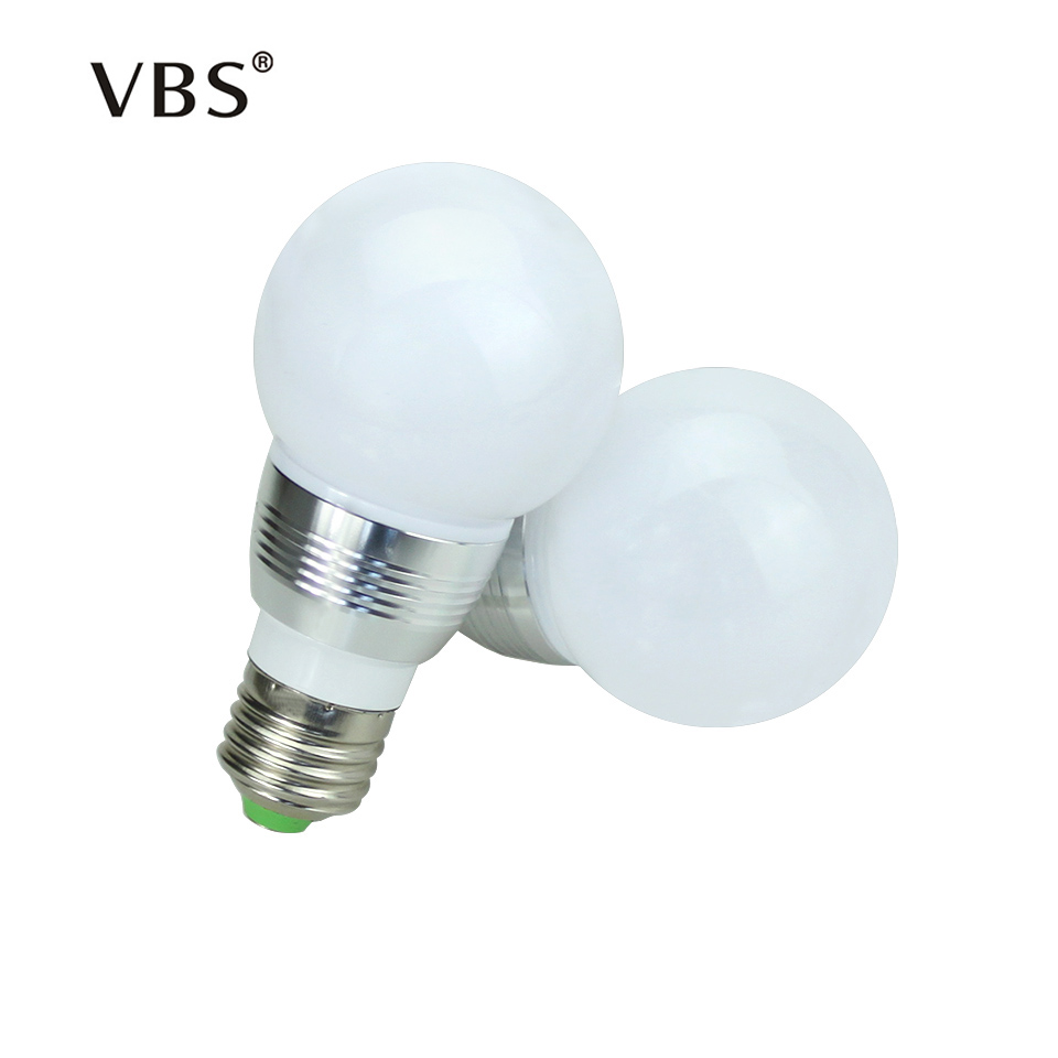 3W High Power RGB LED Bulb E27 E14 Magical RGB Light LED Ball Bulb Stage Light AC85-265V Changeable 16 Color Lighting