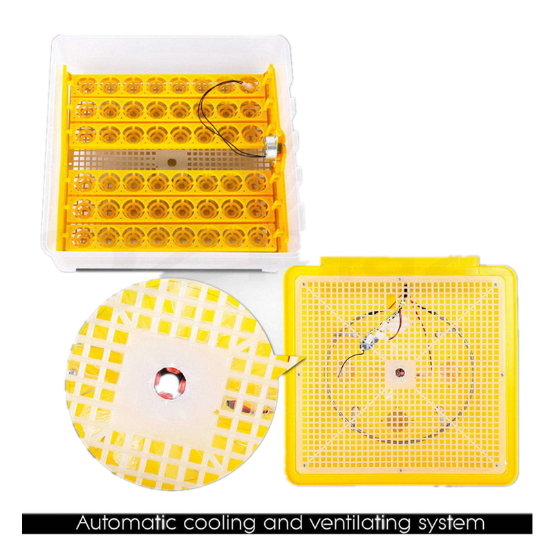 48 Eggs Incubator Automatic Digital Temperature Control Poultry Incubation Machine Chicken Tray Brooder Tool