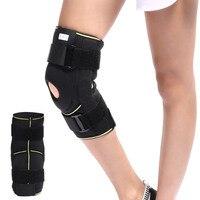 Knee Brace Soft Hinged Knee Patella Brace Support Stabilizer Pad Belt Band Strap Orthosis Splint Wrap