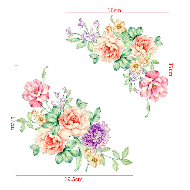 Very Colorful 3D Flowers Wall Stickers
