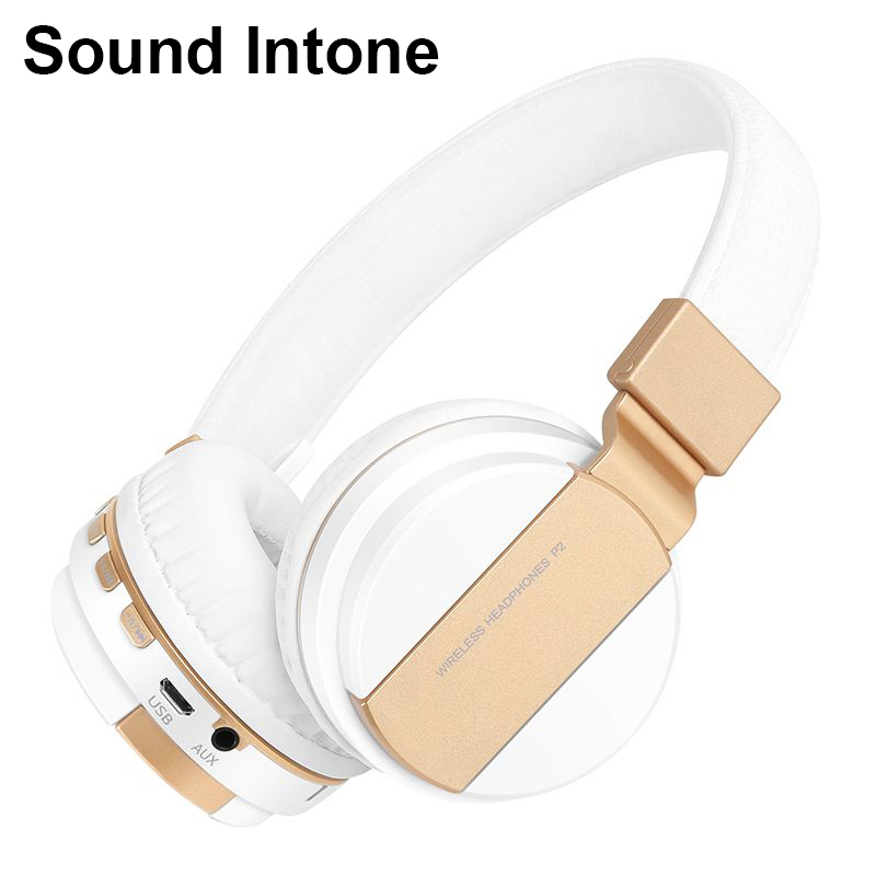 4cbbb073a0f Sound Intone P2 Wireless Bluetooth Headphones with Mic Earphone Support TF  Card FM Radio Foldable Stereo Headsets Fone de ouvido-in Earphones &  Headphones ...