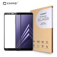 Original CAPAS Screen Protector for Samsung Galaxy A8 2018 A530F Tempered Glass Almost Full Cover Anti-burst Protective Film(China)