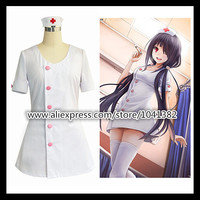 DATE A LIVE Cosplay Dress Anime Characters Nightmare Cosplay Costumes Sexy Nurse Uniform COS White Short Skirt Maid Outfi