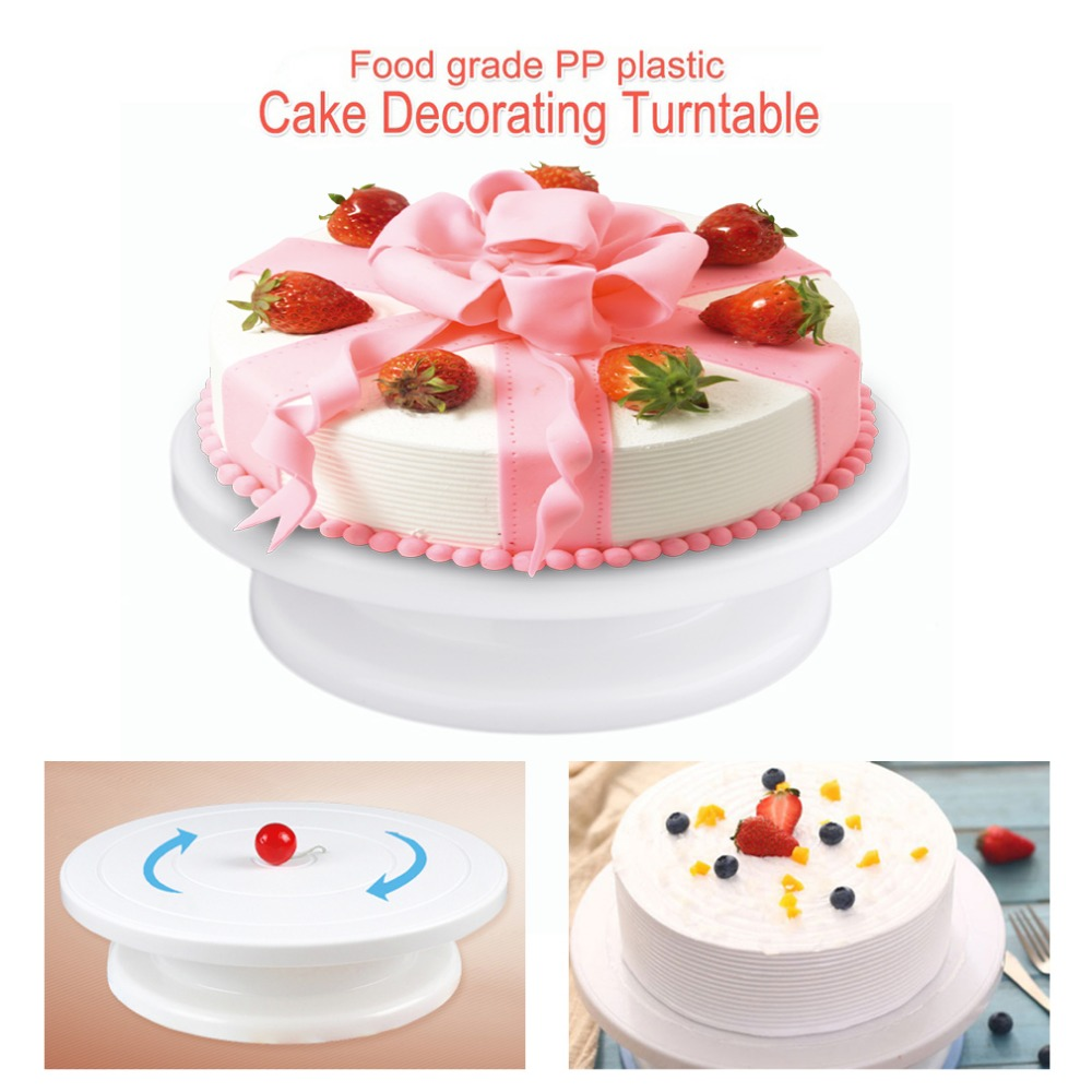 28cm Plastic Cake Turntable Rotating Cake Decorating
