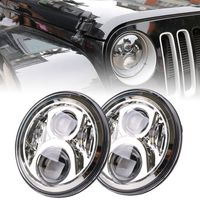 2 Pcs 7 Inch Car LED H4 High Low Beam Headlight Kit For Jeep Wrangler JK