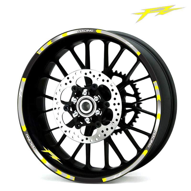 Hot Sell 8 Style Motorcycle Wheel Tire Rim Stickers 17inch Wheel For Yamaha FZ1 FZ6 FZ-07 FZ8 FZ-09 FZ-10 FZS1000 FAZER