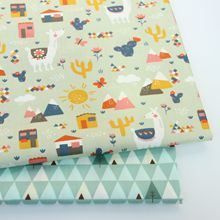 2019 New Cotton Twill Fabric Print Patchwork Textile DIY Sewn Quilted Baby Cloth Sheets Sold Separately Per Meter