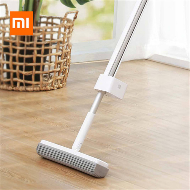 Original Xiaomi Mop Handheld 180-degree Rotating Standing Storage Space-saving Mop with Collodion Head from Xiaomi Youpin