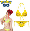 Free Shipping Pocket Monster Pokmon GO Pikachu Anime Underwear Bikini Swimsuits Anime Cosplay Costume