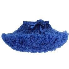 Юбка-пачка для маленьких девочек Пышное Бальное Платье ярко-синего цвета, летняя одежда для маленьких девочек юбки для танцев мини-юбка-пачка Saia, roupas infantis menina