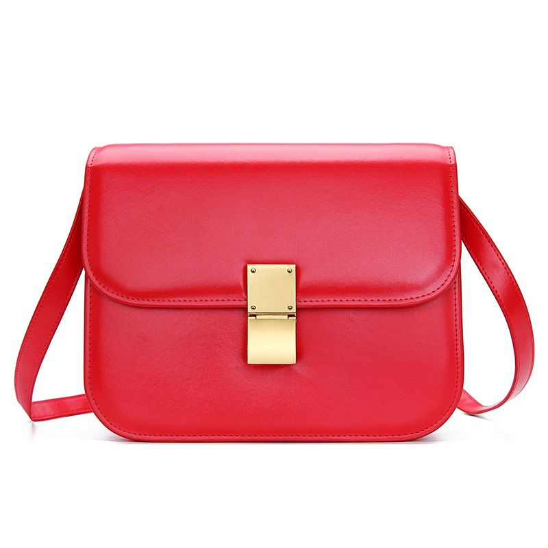 LOEIL New spring and summer women's small bag leather shoulder slung women's bag fashion tofu bag retro small square bag bag female 2018 new fashion sequins convenient bread bag chain small square bag shoulder slung dinner bag