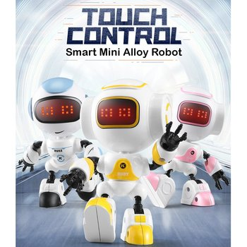 JJRC R9 RUBY Touch Control DIY Gesture Mini Smart Geuit Alloy Robot Toy RC Robot Model Toys Hobby for Kids Adults Birthday Gifts