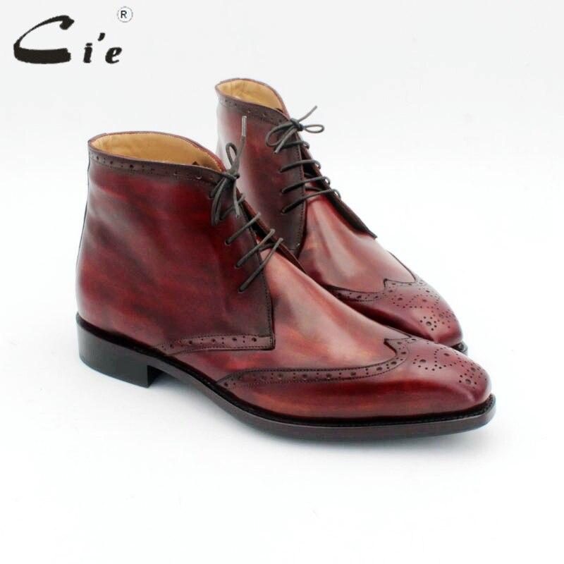 Botas de invierno de piel de becerro auténtico para hombre, suela inferior de cuero GOODYEAR, de piel abrigada en el interior, hecho a mano, de varios colores, botas A172