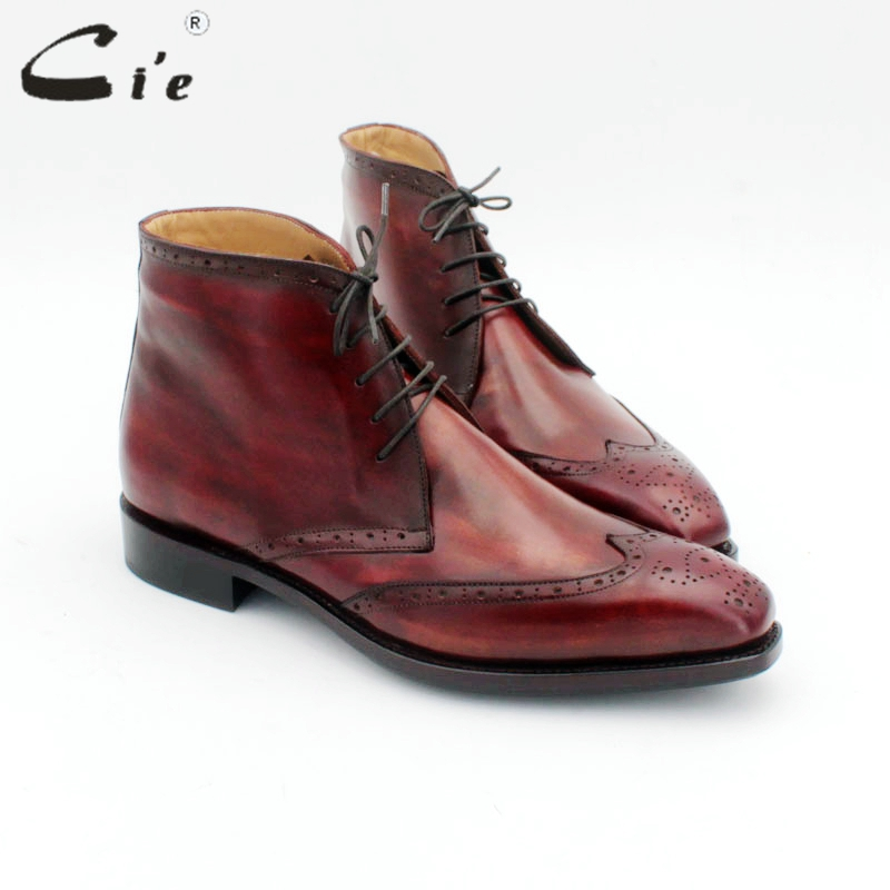cie men's leather winter boot genuine calf leather bottom outsole GOODYEAR welted fur inside handmade multiply colors boot A172