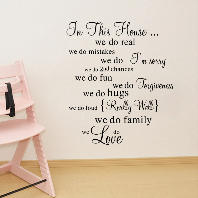 Family Rules Kitchen hall way wall art Sticker vinyl Decal Home decor DIY lounge