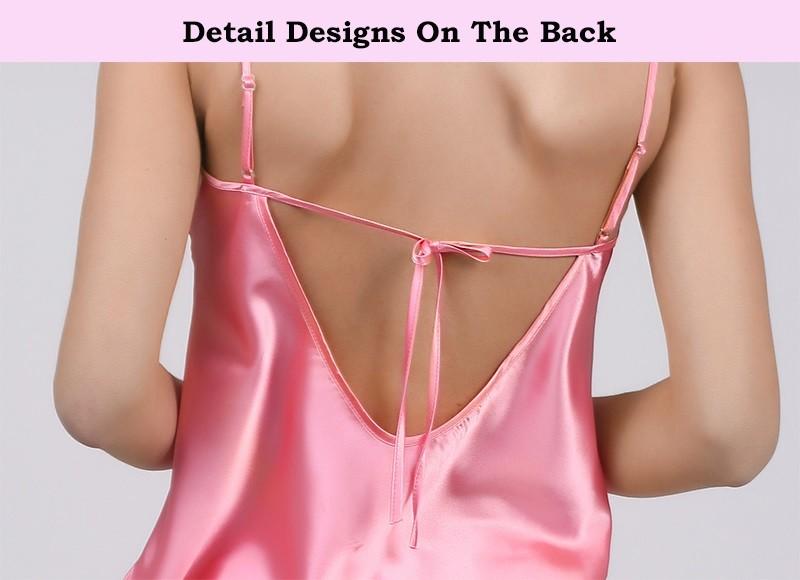HTB12hEGLFXXXXalXpXXq6xXFXXX7 - Solid Satin Chiffon Women Pajama Sets Spring Summer Night dress PTC  157