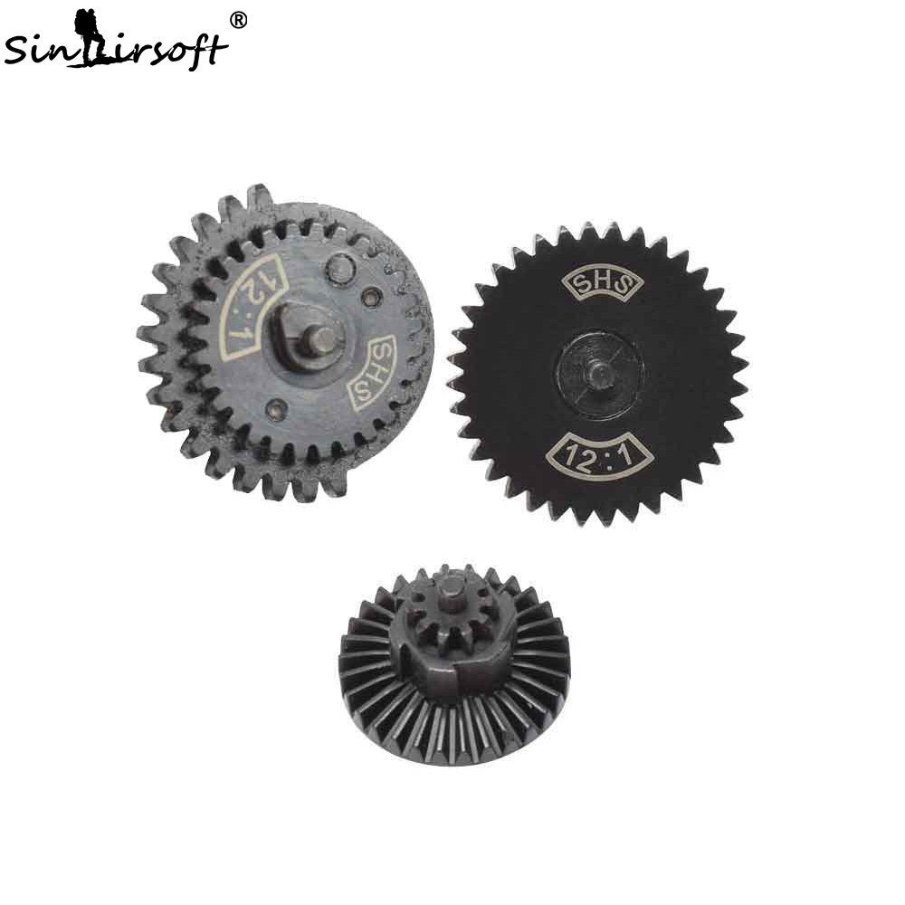 SINAIRSOFT SHS 12:1 Ultra-high Speed Gear Set Hunting Accessories For Ver.2 / 3 AEG Airsoft Gearbox New Type Gear Set Gun