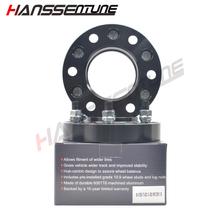 HANSSENTUNE 4PCS 30mm Black Anodized aluminum wheel spacer adapter 6x139.7/6x5.5  93.1CB for most 6 Lug